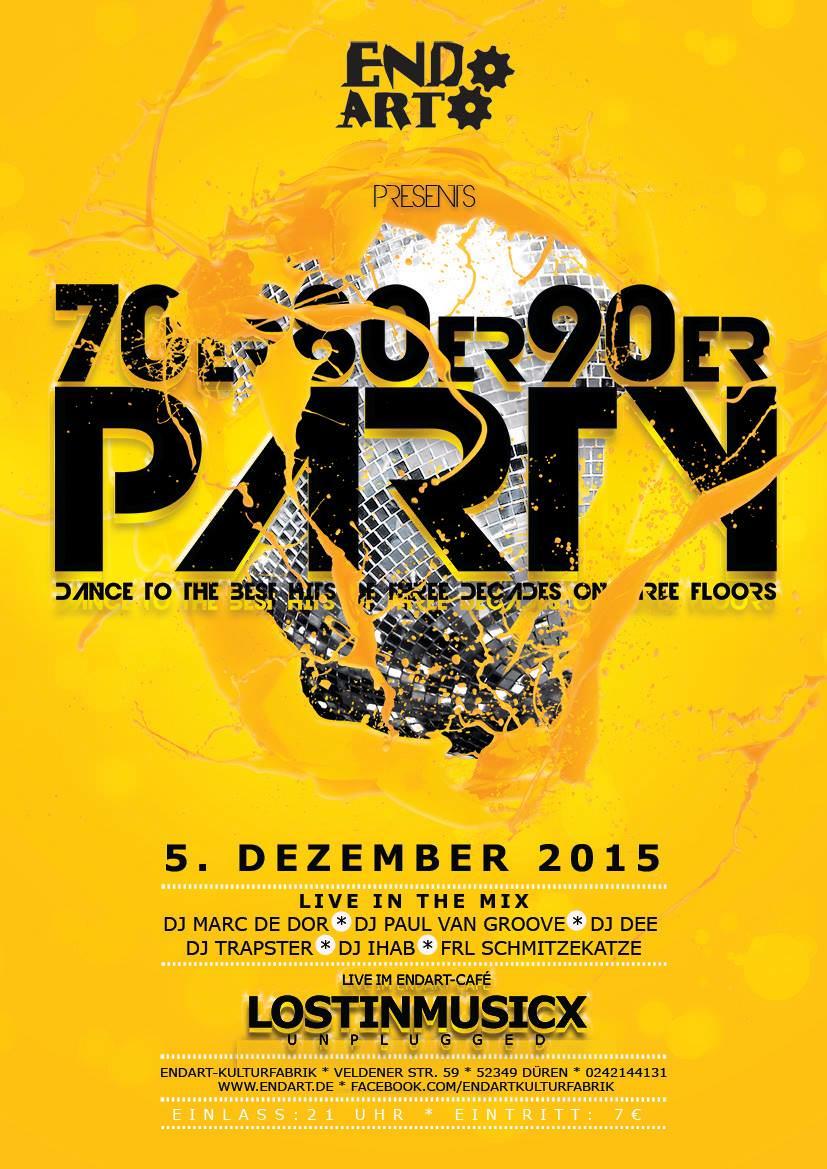 70er 80er 90er Party in der Endart in Düren