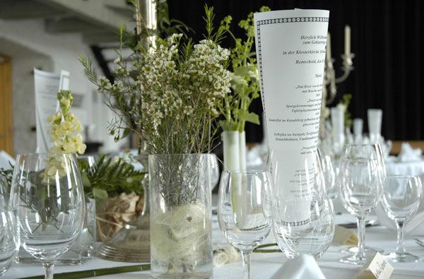 Hochzeitstafel in der Klosterkirche Remscheid-Lennep