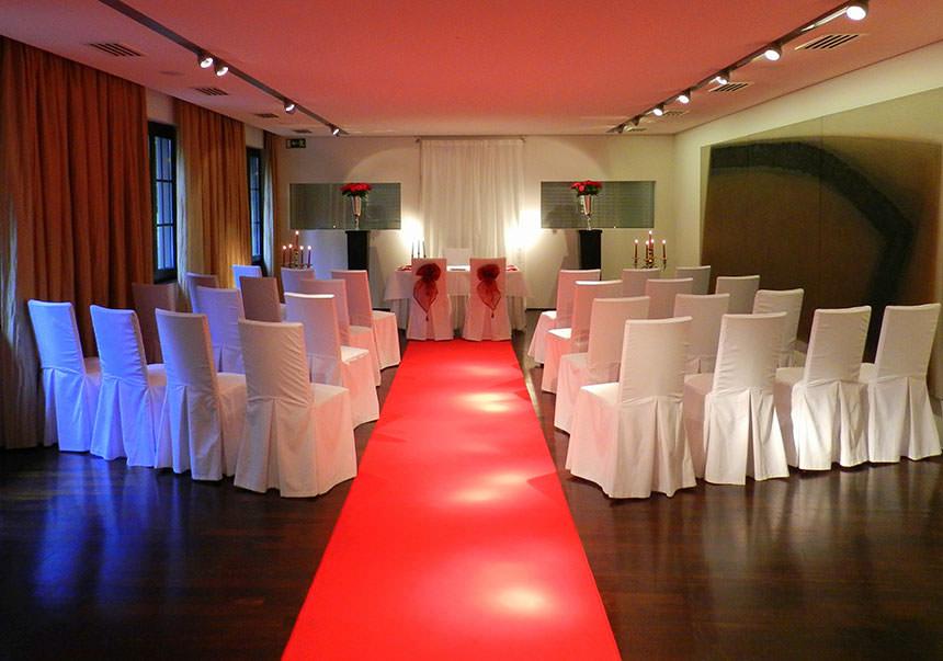Standesamtliche Trauungen werden im Artroom durchgeführt. Foto: Jenny Blassnig // Club Astoria