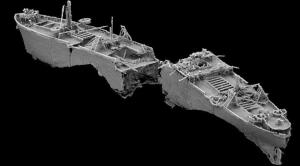 Composite Image of the Wreck from Sonar