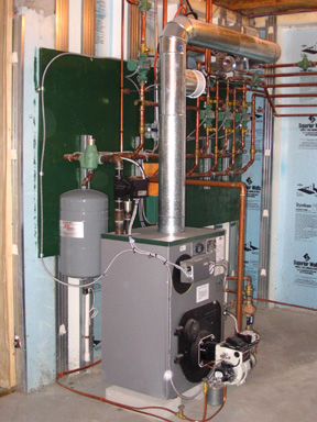 Oil fired Peerless hydronic system photo