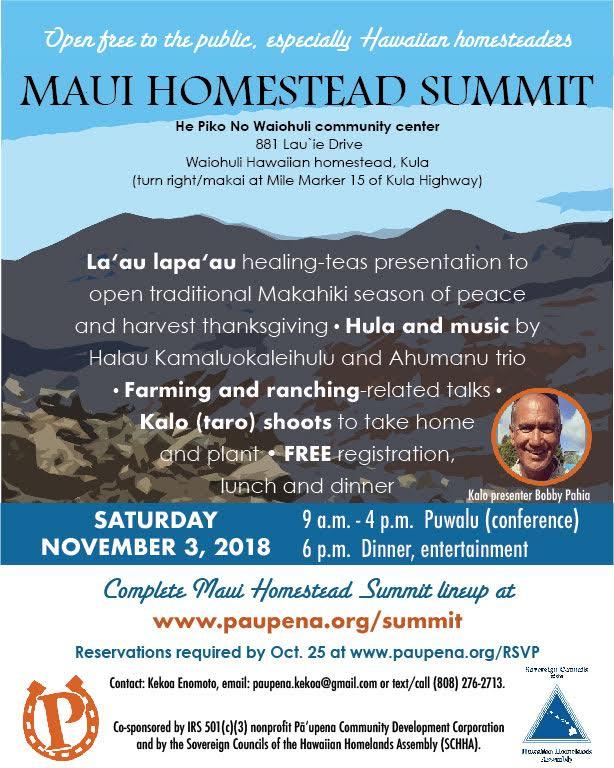 Maui Homestead Summit