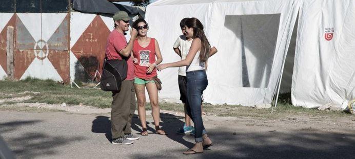 La carpa del Bachillerato Popular de Revuelta. Foto: Proyecto Revuelta.