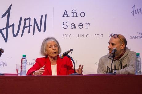 Beatriz Sarlo y Fabián Casas. Foto: Juan Martín Alfieri.