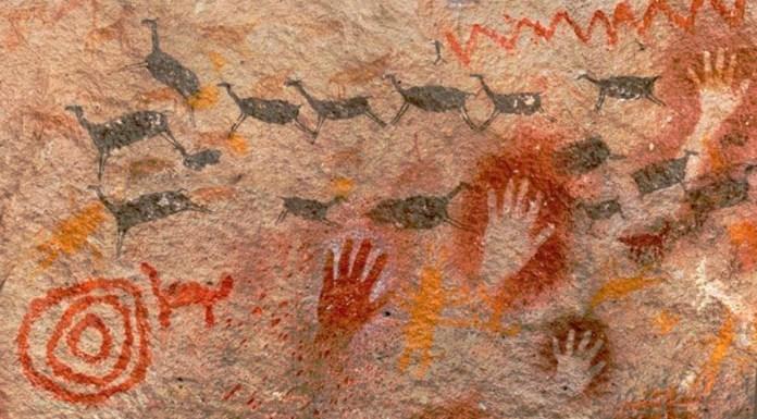Estas pintadas están en la Cueva de las Manos, en Santa Cruz.