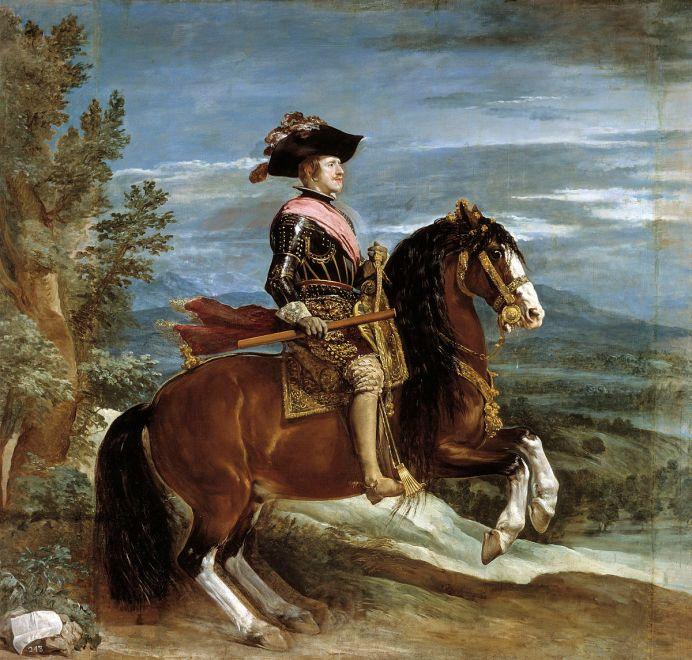 Felipe IV a caballo de Velázquez.