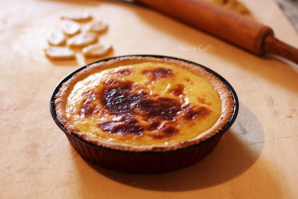Crostata con crema cotta ed uva  Pausa Caff