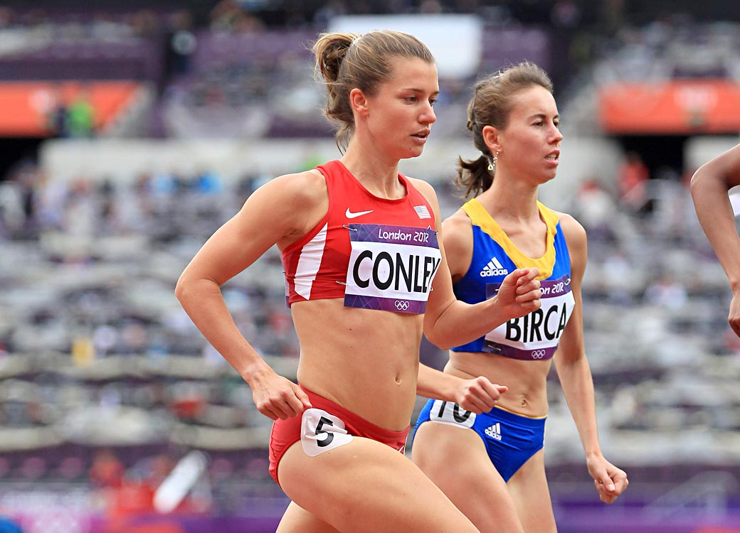 Kim Conley Competing in the 5,000M at the 2012 Olympic Games