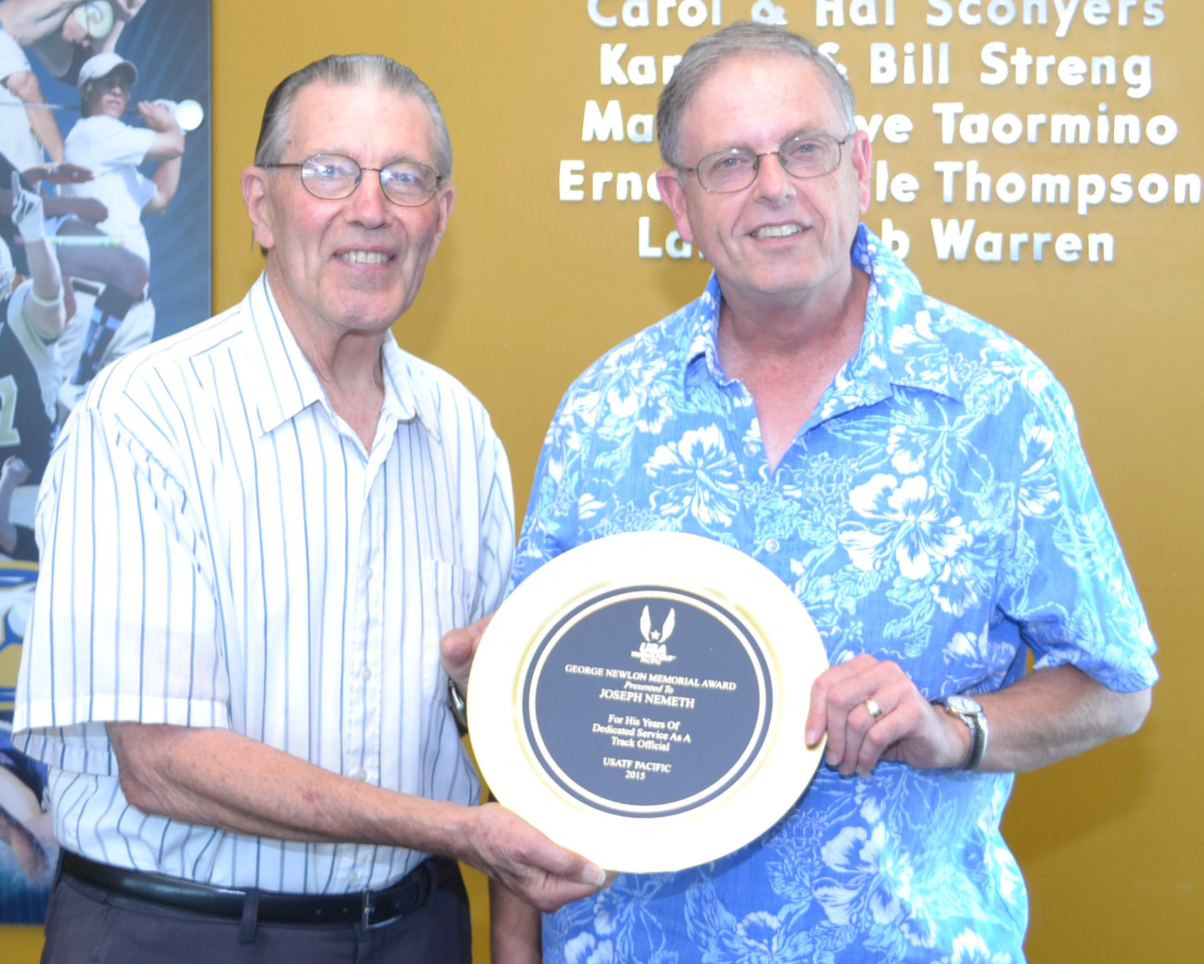 George Newlon Special Recognition Award-Track.Joe Nemeth