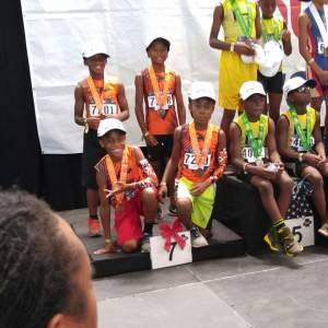2016 JOs - 9-10 Boys 4x100m Relay -7th place for Sacramento Speed Factory : Brandon Moore, Malachi Fletcher , Andrew Bishop , Kenny Moore