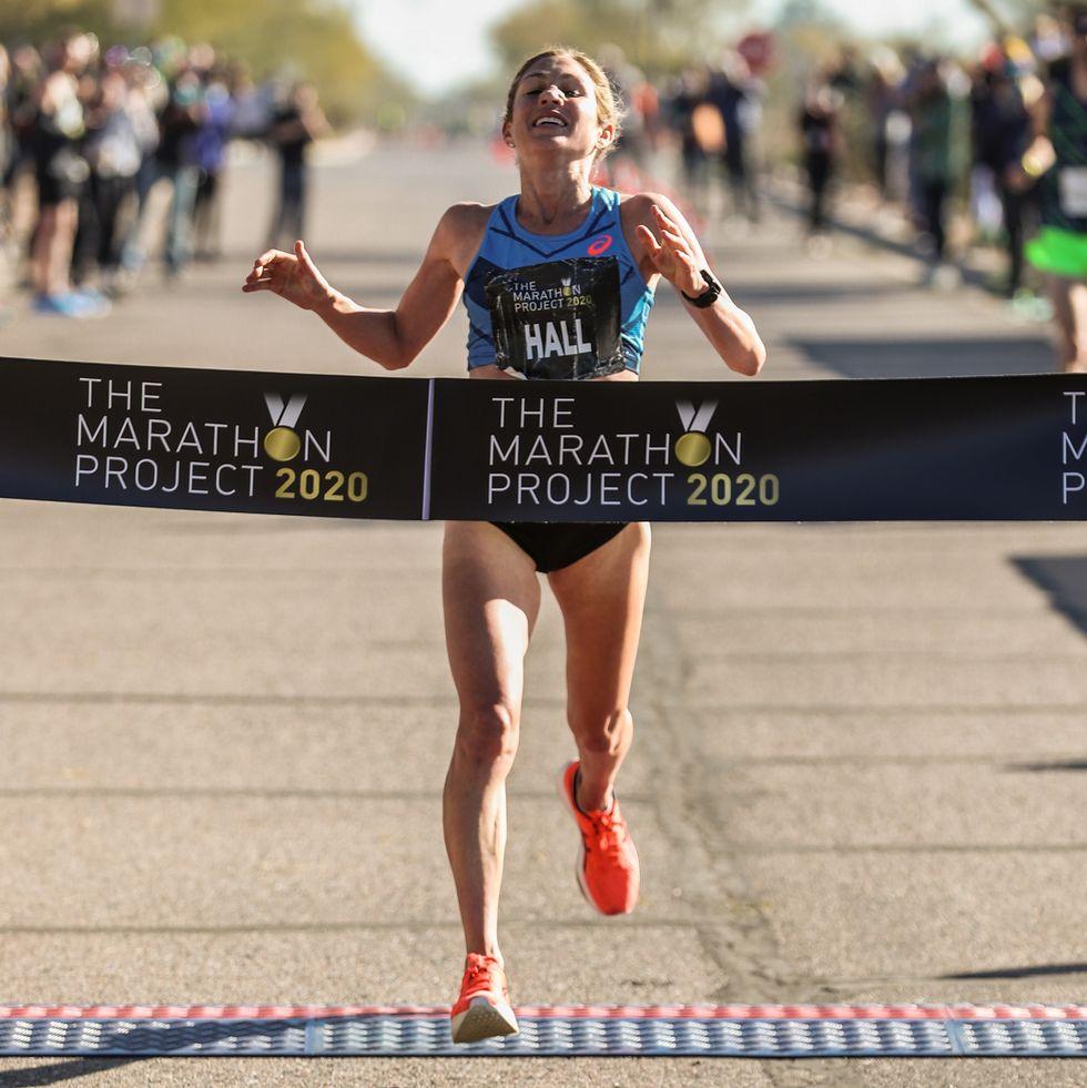 Sara Hall Marathon Project First Woman