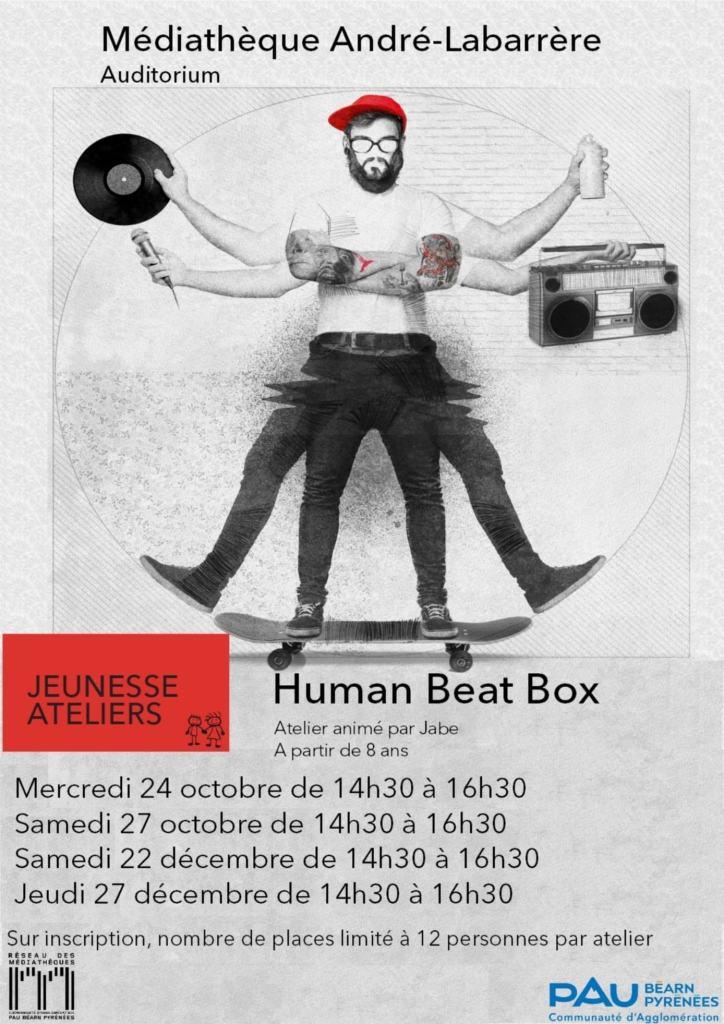 Médiathèque André Labarrère Atelier Human Beatbox