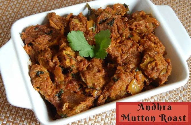 Andhra mutton roast