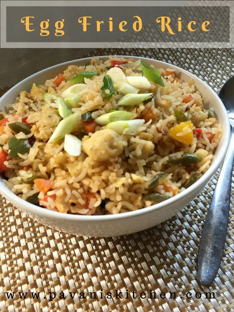 Egg fried rice recipe how to make egg fried rice pavanis kitchen egg fried rice is very easy to prepare if youre in a rush this can be prepared with leftover rice or cooked rice i regular prepare this rice in my home ccuart Choice Image