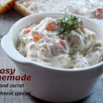 Easy Homemade Herb and Carrot Cream Cheese Spread
