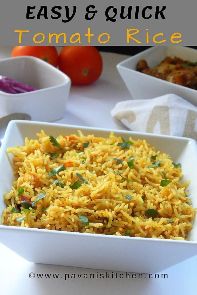 easy and quick Tomato rice