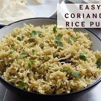 Coriander Rice Pulao  | Easy Coriander Rice in Pressure Cooker