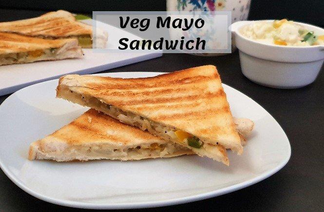 Veg Mayonnaise Sandwich Recipe Easy Mayo Sandwich