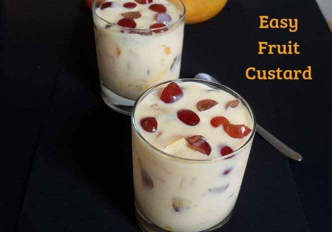 Easy Fruit Custard