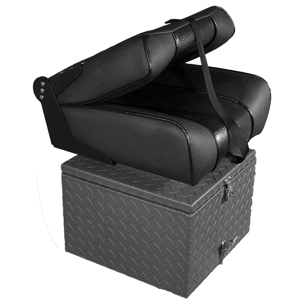 Accessories By Pavati Marine   Extra Drift Boat Seat With Storage Box And  No Armrests