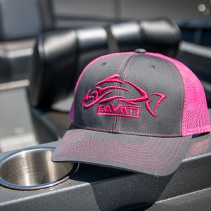 Clothing and Accessories by Pavati Marine - Grey & Pink Snap-Back Hat