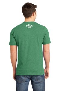 Clothing and Accessories by Pavati Marine - Green Male T-Shirt with Fish Logo - Back