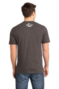 Clothing and Accessories by Pavati Marine - Gray Male T-Shirt with Fish Logo - Back