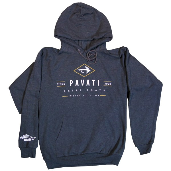 Clothing and Accessories by Pavati Marine - Modern Logo on Pullover Hoodie - Front