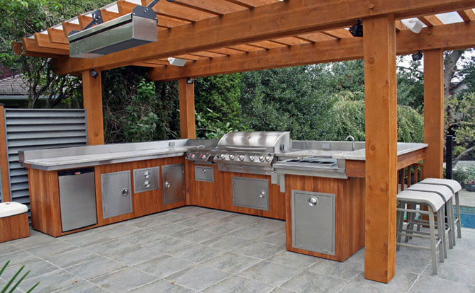 outdoor kitchen oven drop in sink kitchens pizza ovens north greece landscape rochester ny and patio