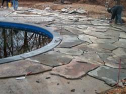 pavers over concrete