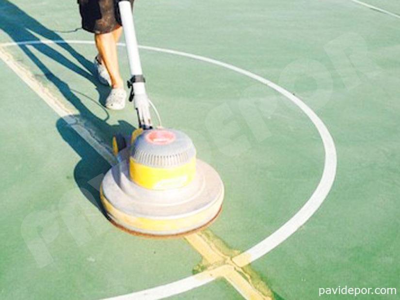 Rehabilitacion pista de baloncesto, Madrid 02