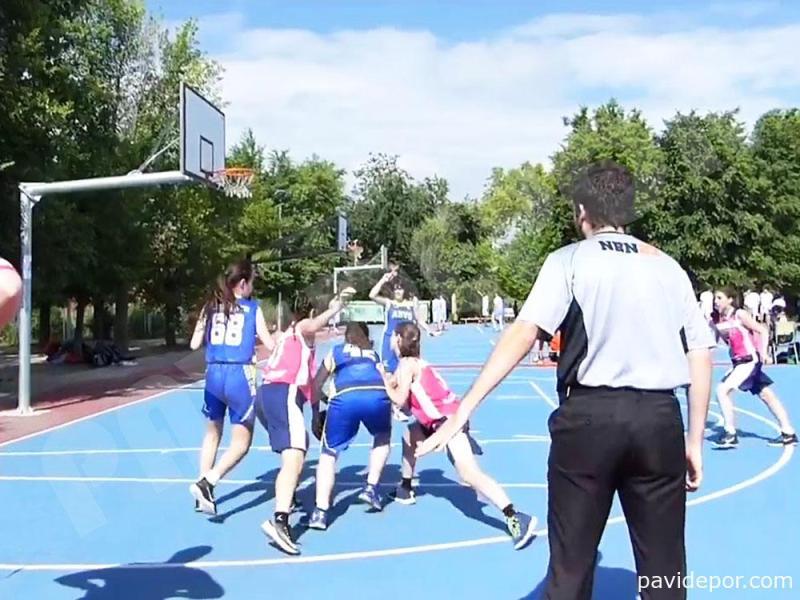 Rehabilitacion pista de baloncesto, Madrid 07