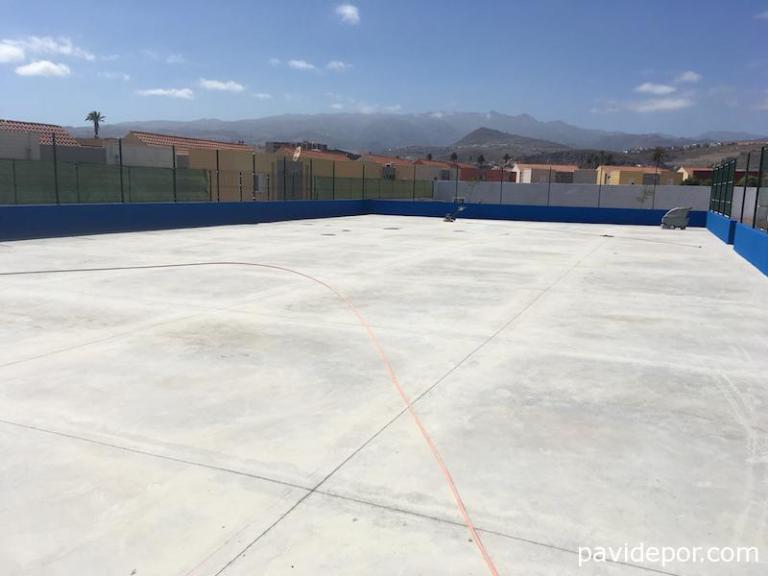 Hormigón pulido tenis