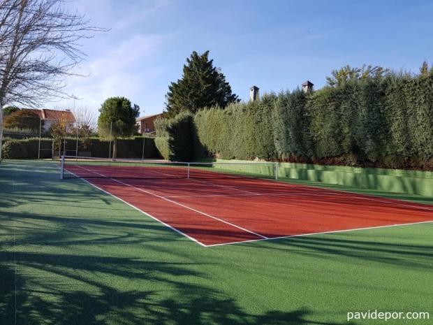 Pavimento deportivo tennisquick para pistas de tenis