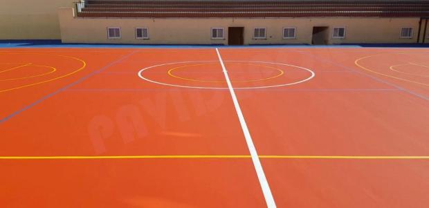 Reparación pista deportiva colegio