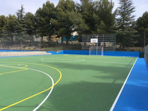 hormigón poroso SportQuick para pistas polideportivas