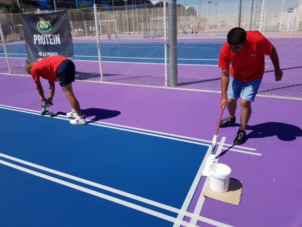 Líneas de juego para pistas de tenis