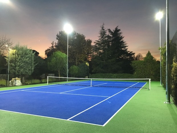 Pavimento deportivo para tenis