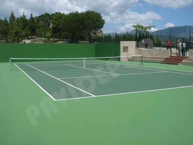 Construcción tenis resinas