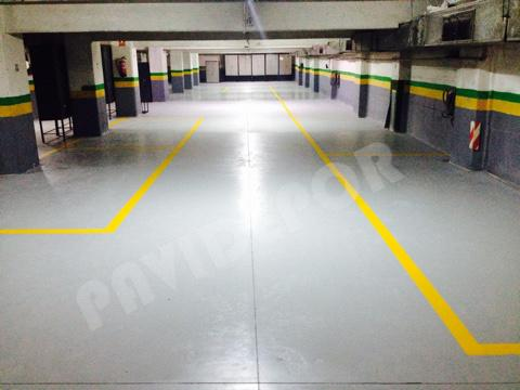 Reparación suelo garaje