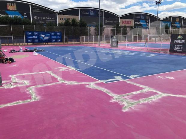 reparación grietas tenis