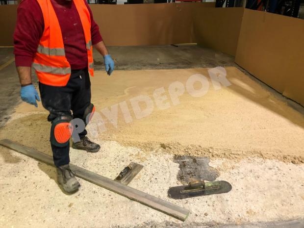 reparación suelo nave