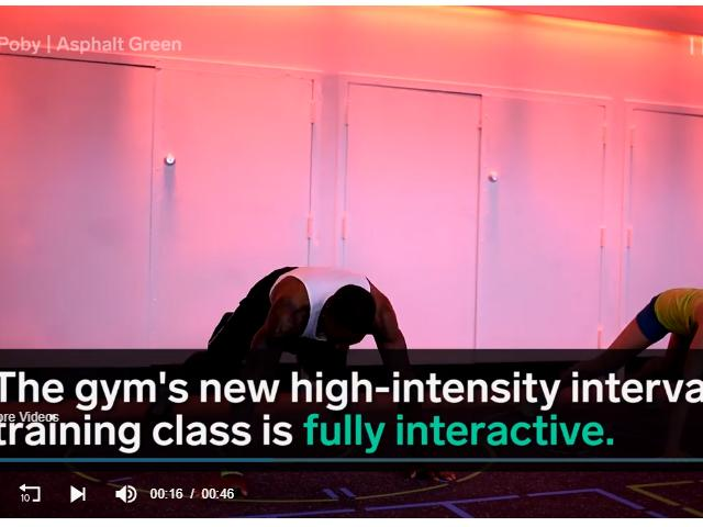 Asphalt Green NYC has a high-tech gym class - Business Insider