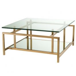 coffee table superia with mirrored shelf