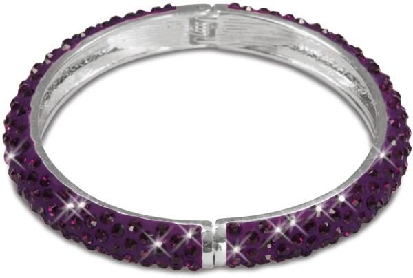 "Purple Crystal Bracelet 2.64"" Bangle"