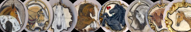 one of a kind hand painted horse jewelry