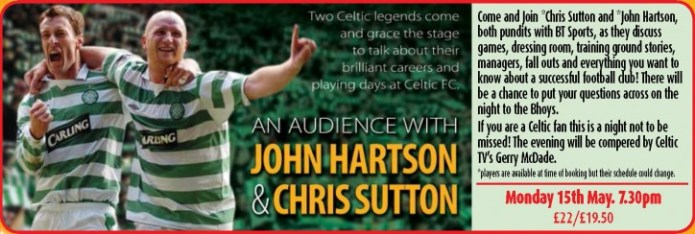 An Audience With John Hartson & Chris Sutton - CLICK FOR MORE INFO!
