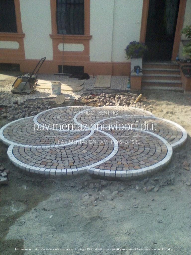 Pavimentazioni Avi Porfidi  disegni e decori in porfido