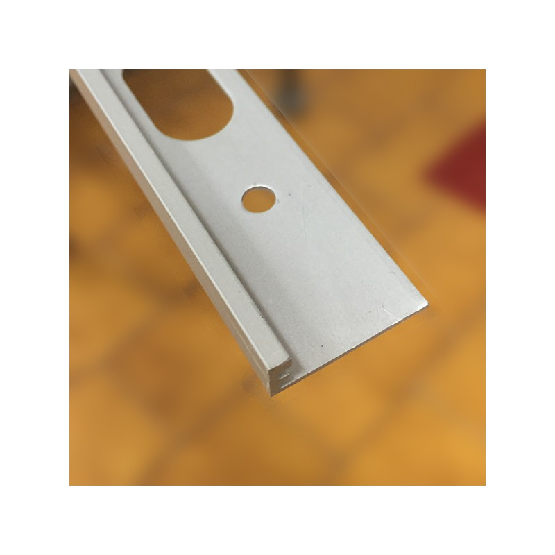 Profilo Decorativo H 6mm Spessore Pavimento X L 2700 Mm Alluminio Anodizzato Argento