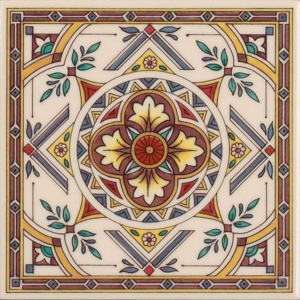 Piastrelle decorate  Boiserie in ceramica per bagno
